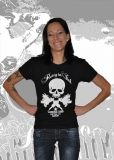 TATTOO SHIRT SUBCULTURE TATTOO 'SKULL' GIRLS